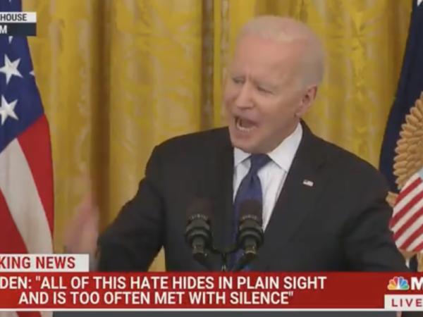 WATCH: Biden Randomly Begins Shouting in Middle of Speech