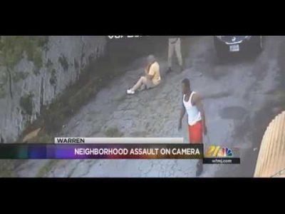 BLACK PROTESTER BLINDSIDES ELDERLY COUPLE, KARMA RAINS DOWN ON HIM [VIDEO]